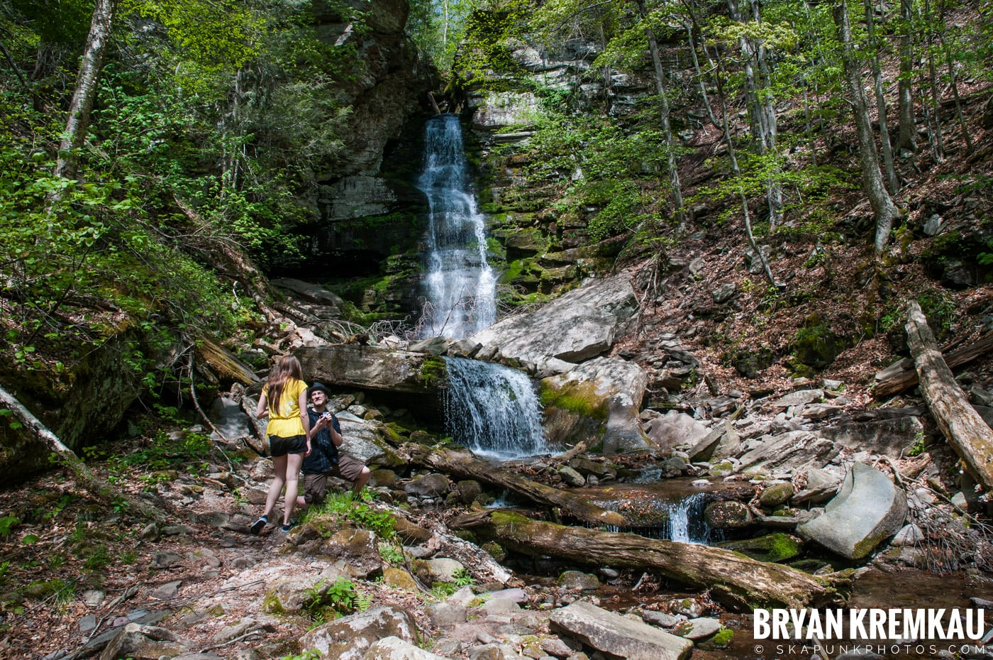Getting Engaged @ Peekamoose Waterfall, Sundown NY - 5.1.10 (27)