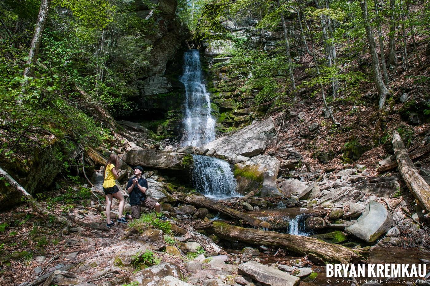 Getting Engaged @ Peekamoose Waterfall, Sundown NY - 5.1.10 (26)
