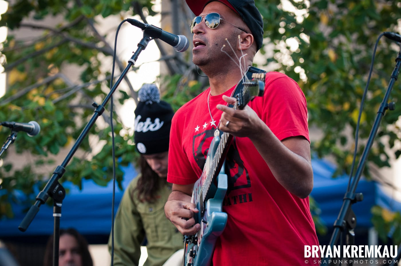 Tom Morello @ Occupy Wall Street Anniversary Concert, Foley Square, NYC - 9.16.12 (51)