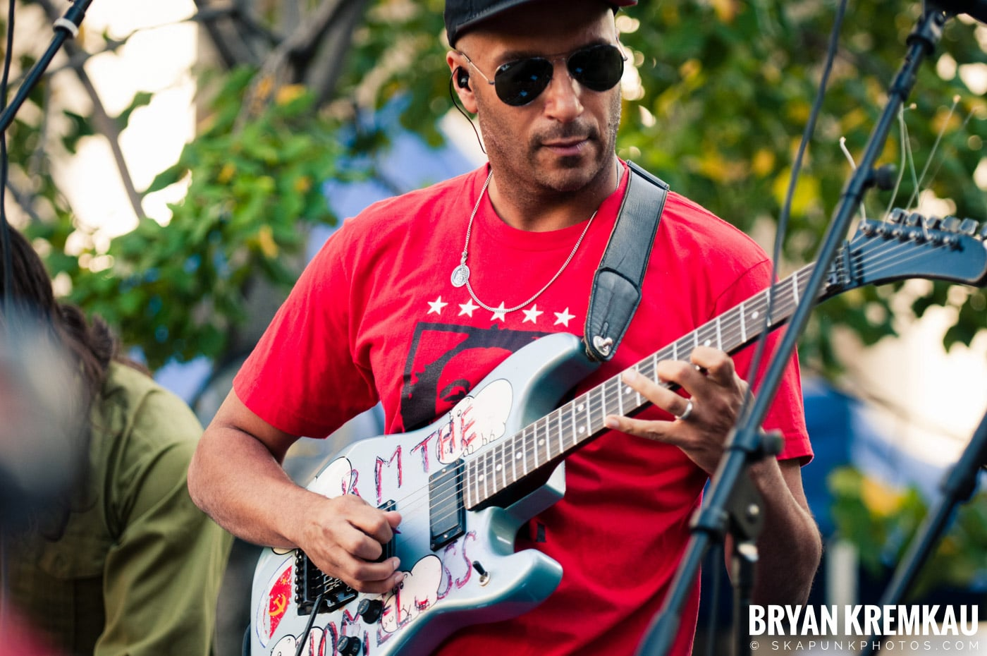 Tom Morello @ Occupy Wall Street Anniversary Concert, Foley Square, NYC - 9.16.12 (46)