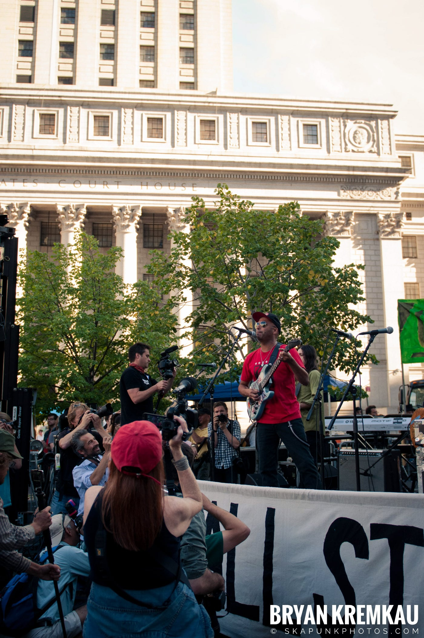 Tom Morello @ Occupy Wall Street Anniversary Concert, Foley Square, NYC - 9.16.12 (39)
