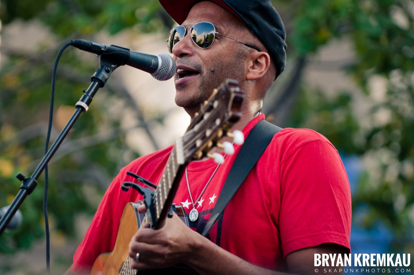 Tom Morello @ Occupy Wall Street Anniversary Concert, Foley Square, NYC - 9.16.12 (30)