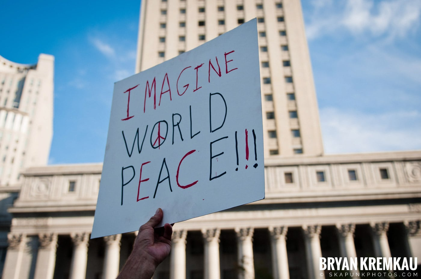 Tom Morello @ Occupy Wall Street Anniversary Concert, Foley Square, NYC - 9.16.12 (28)