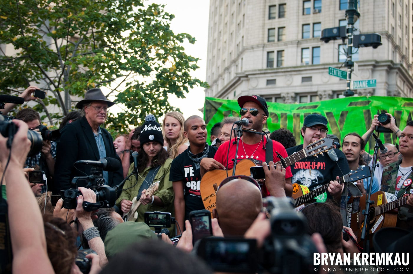 Tom Morello @ Occupy Wall Street Anniversary Concert, Foley Square, NYC - 9.16.12 (26)