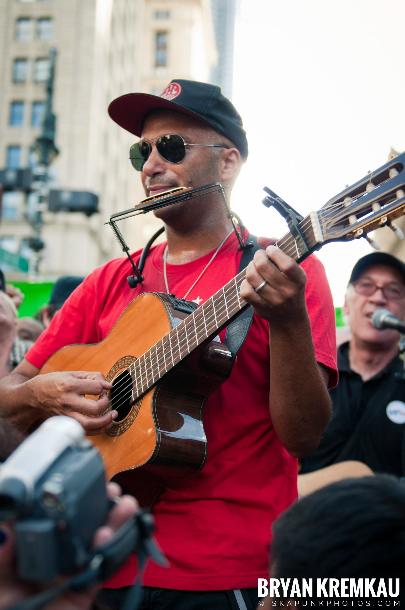 Tom Morello @ Occupy Wall Street Anniversary Concert, Foley Square, NYC - 9.16.12 (13)