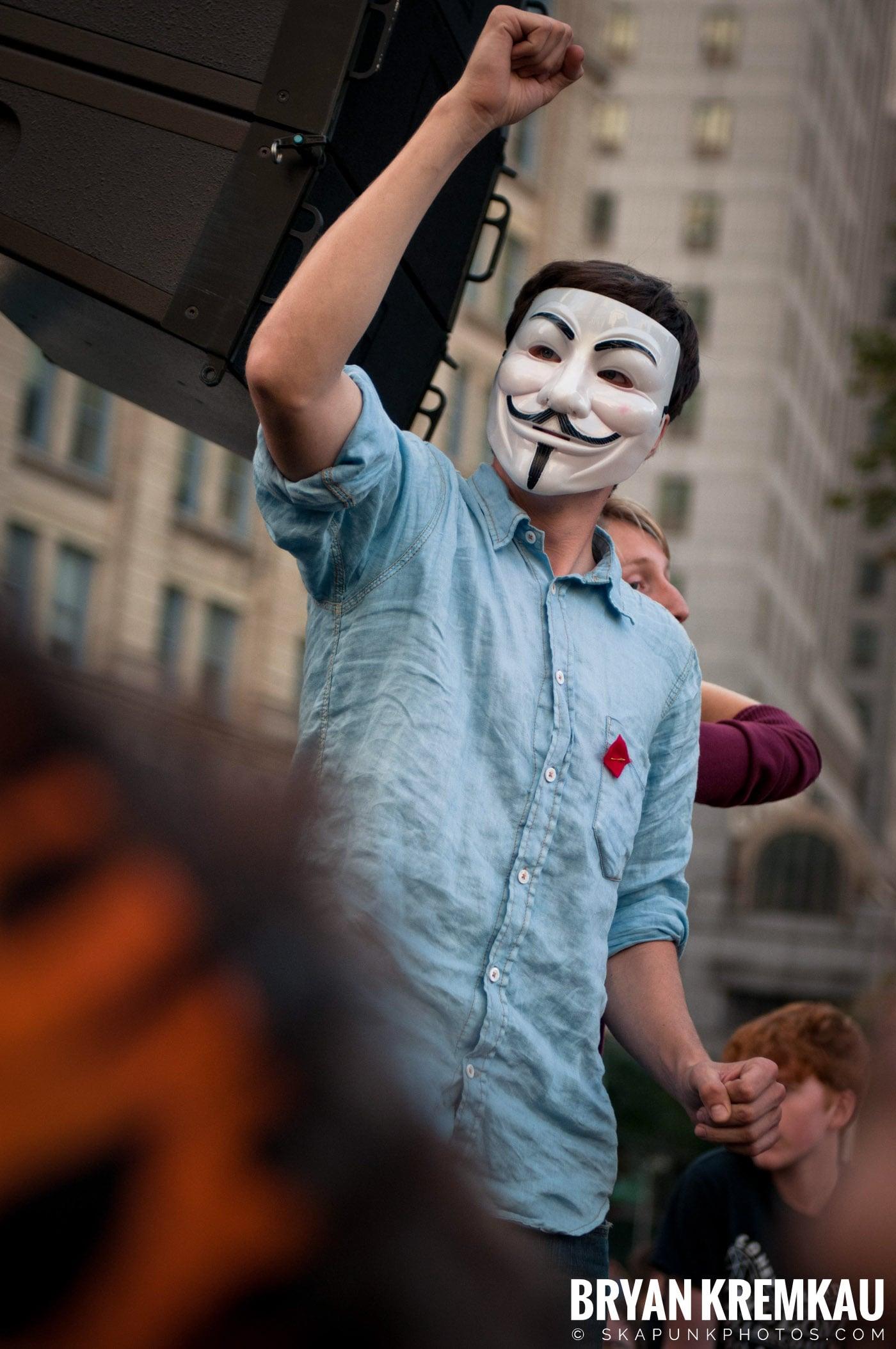 Tom Morello @ Occupy Wall Street Anniversary Concert, Foley Square, NYC - 9.16.12 (11)