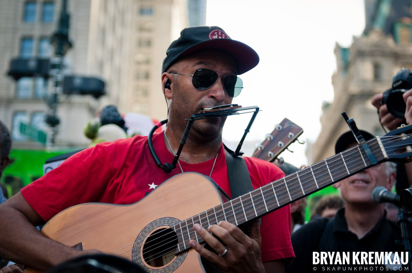 Tom Morello @ Occupy Wall Street Anniversary Concert, Foley Square, NYC - 9.16.12 (9)