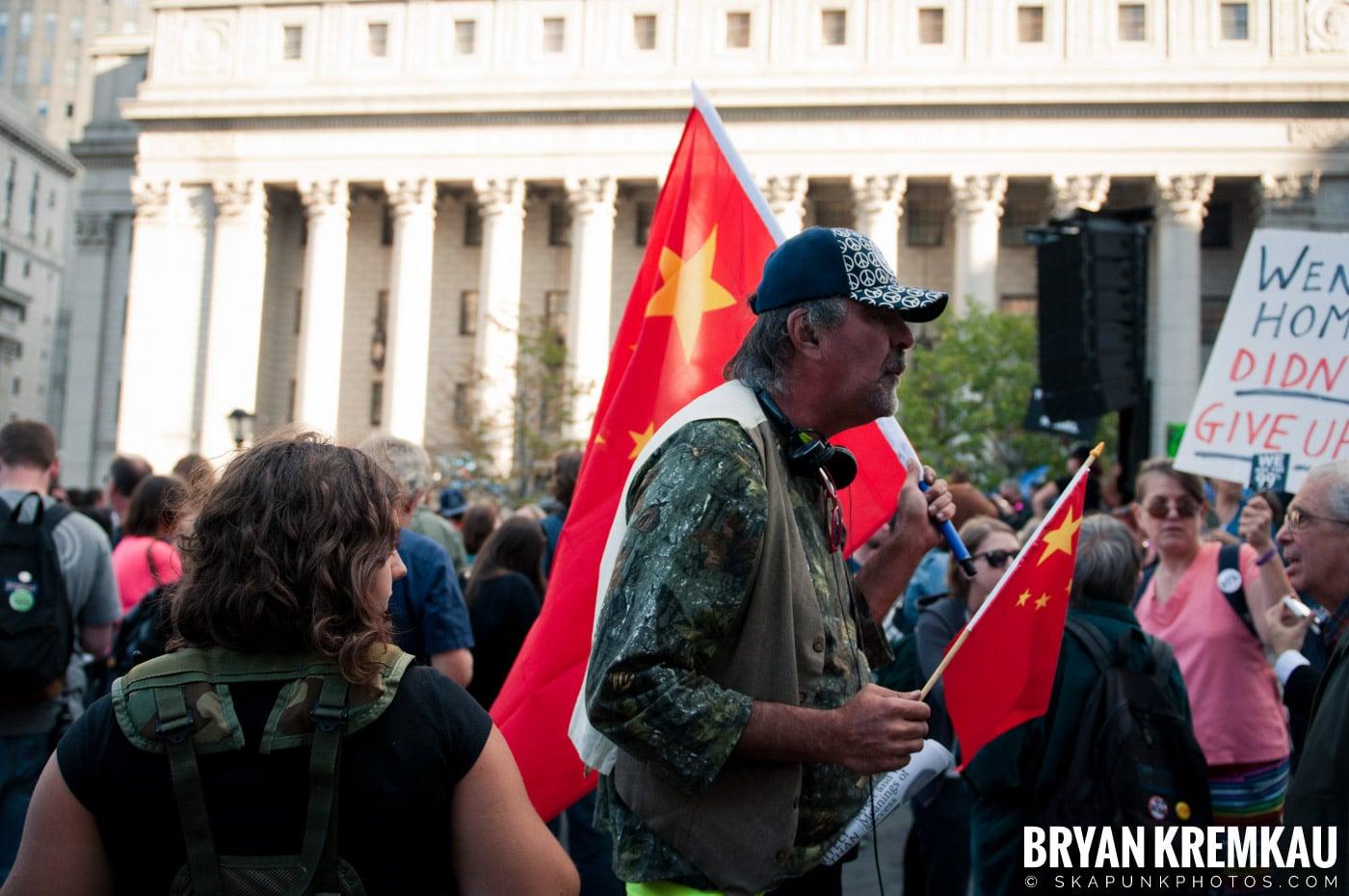 Tom Morello @ Occupy Wall Street Anniversary Concert, Foley Square, NYC - 9.16.12 (5)