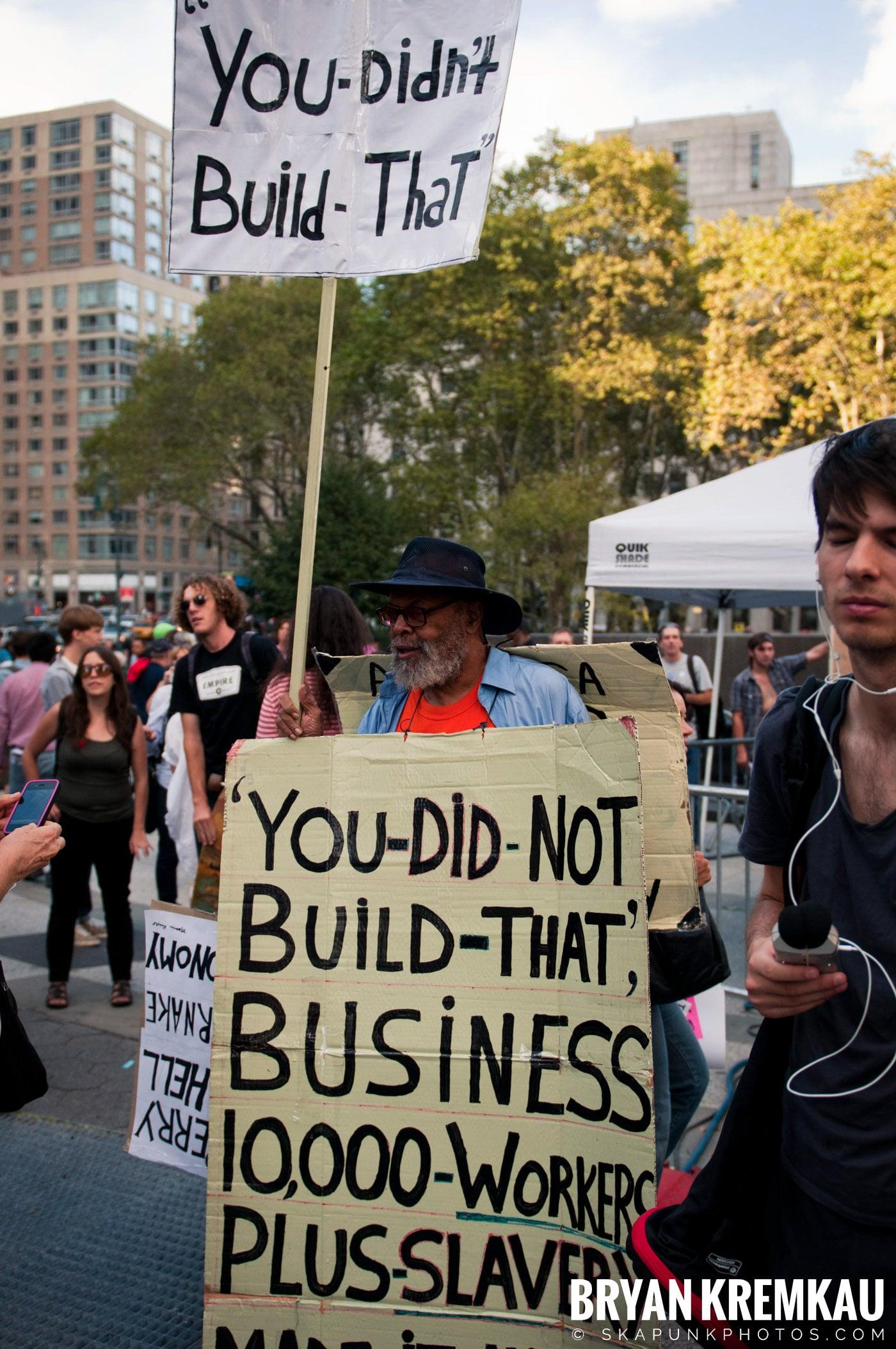 Tom Morello @ Occupy Wall Street Anniversary Concert, Foley Square, NYC - 9.16.12 (3)