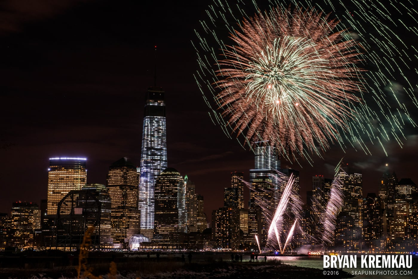 Fireworks at Super Bowl Kickoff Spectacular @ Liberty State Park, Jersey City, NJ - 1.27.14 (16)