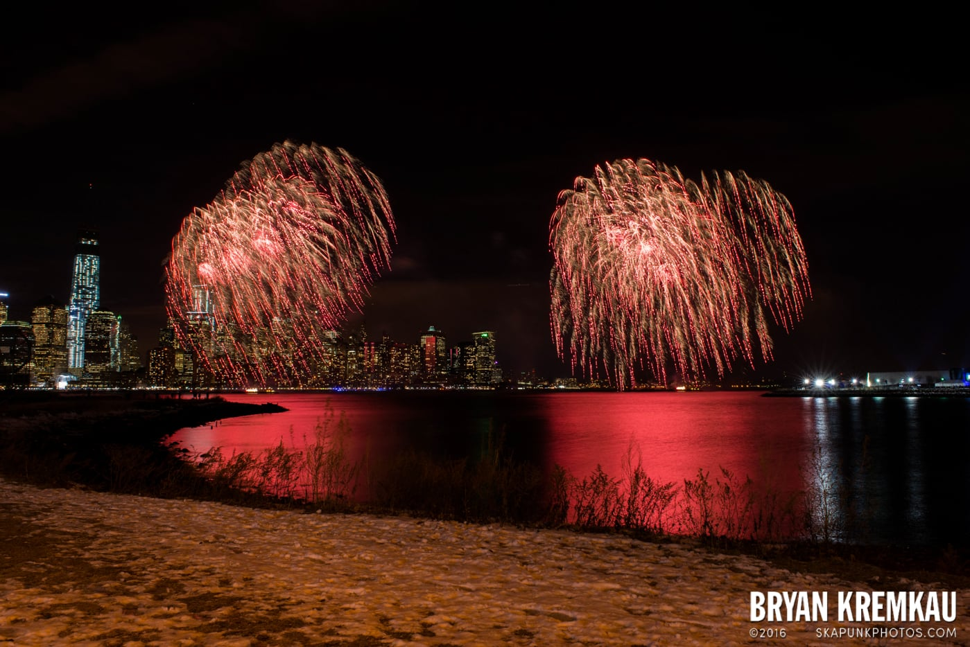 Fireworks at Super Bowl Kickoff Spectacular @ Liberty State Park, Jersey City, NJ - 1.27.14 (15)