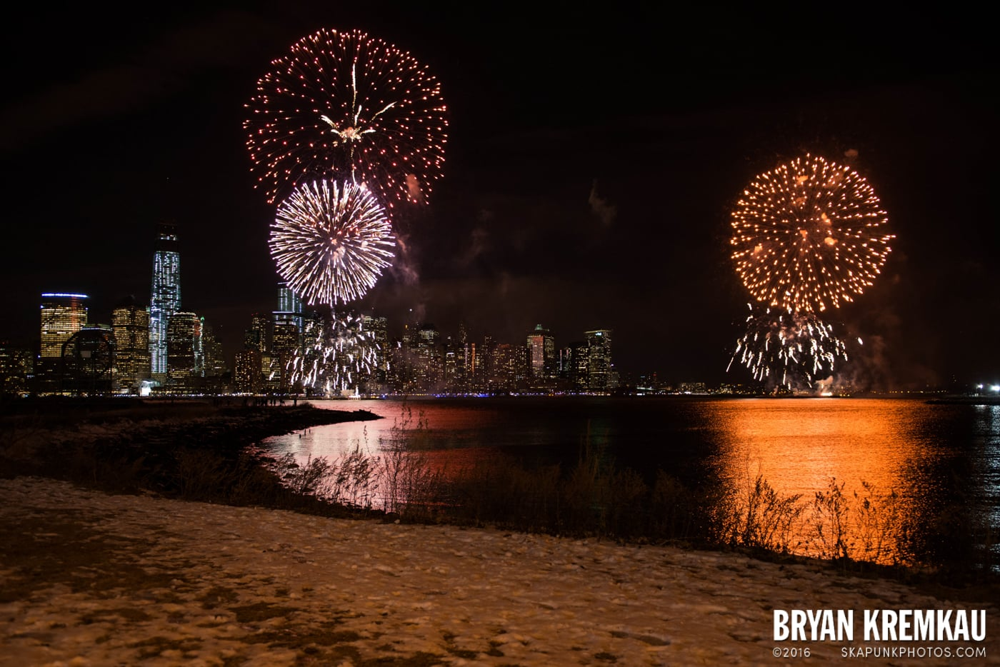Fireworks at Super Bowl Kickoff Spectacular @ Liberty State Park, Jersey City, NJ - 1.27.14 (14)