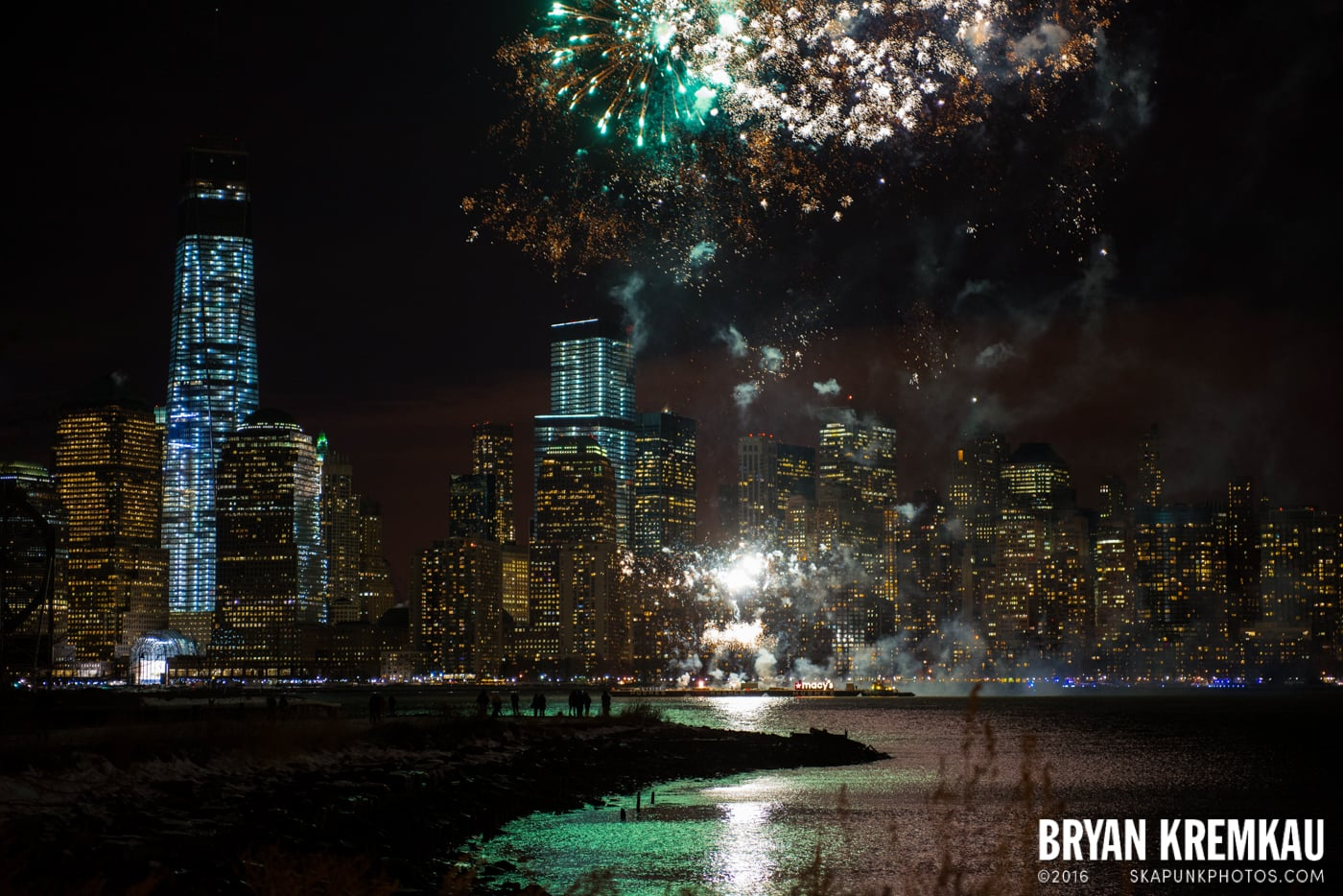 Fireworks at Super Bowl Kickoff Spectacular @ Liberty State Park, Jersey City, NJ - 1.27.14 (12)