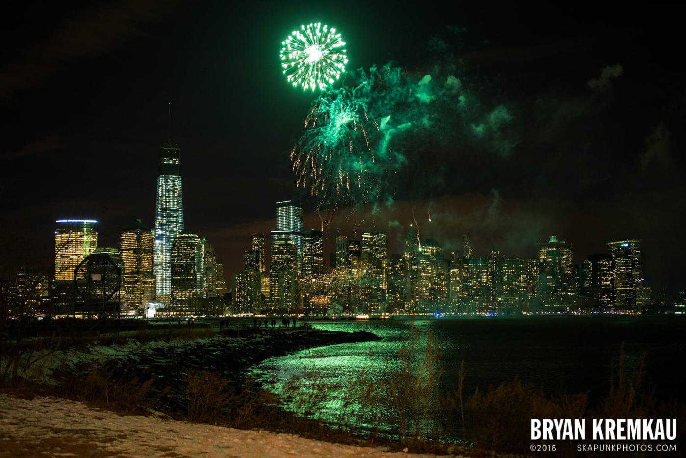 Fireworks at Super Bowl Kickoff Spectacular @ Liberty State Park, Jersey City, NJ - 1.27.14 (11)