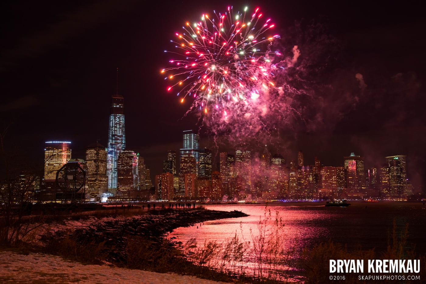 Fireworks at Super Bowl Kickoff Spectacular @ Liberty State Park, Jersey City, NJ - 1.27.14 (8)