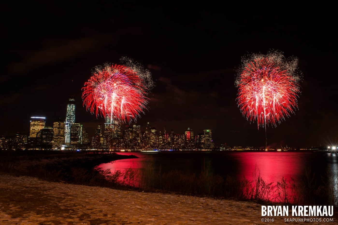 Fireworks at Super Bowl Kickoff Spectacular @ Liberty State Park, Jersey City, NJ - 1.27.14 (7)