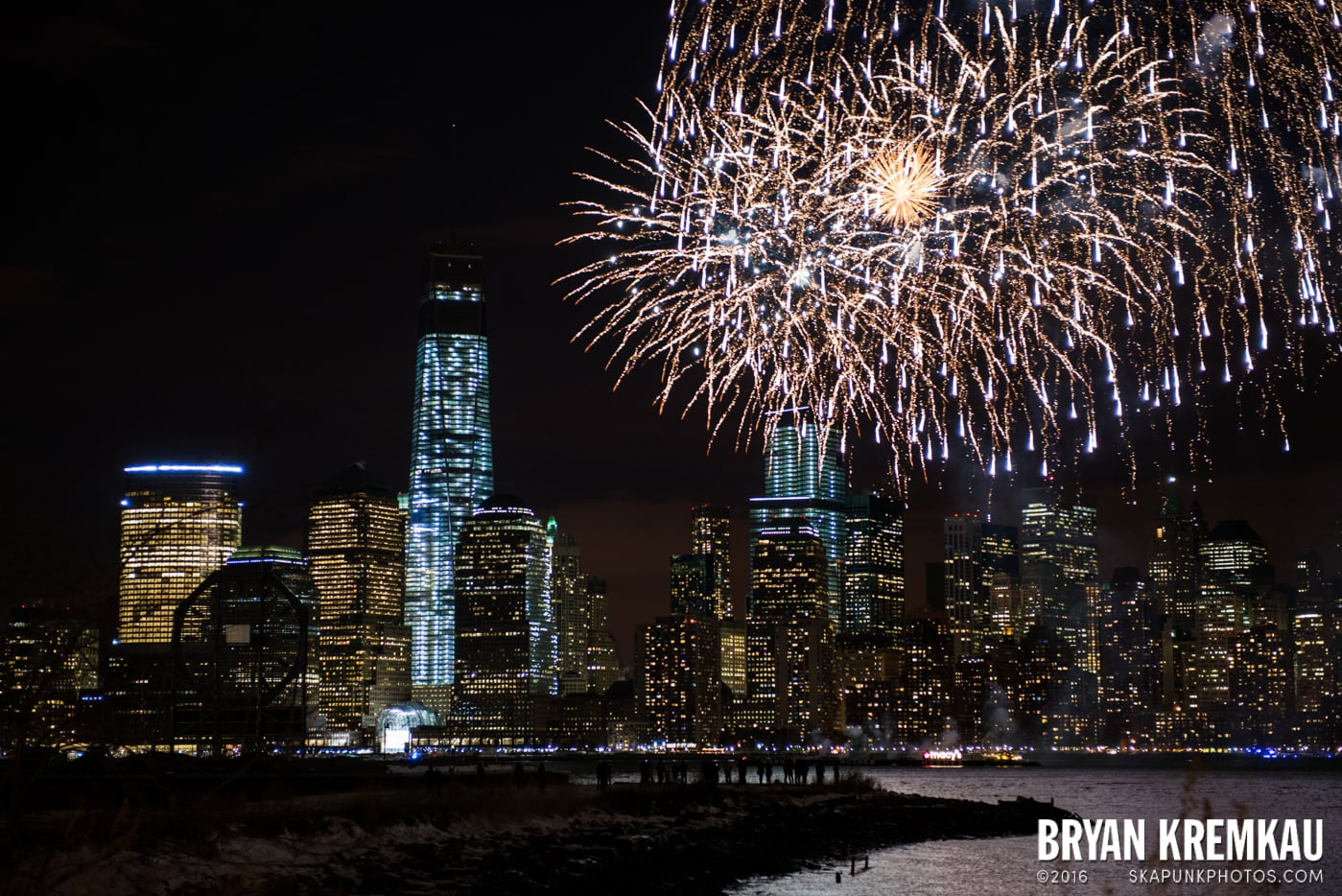 Fireworks at Super Bowl Kickoff Spectacular @ Liberty State Park, Jersey City, NJ - 1.27.14 (6)