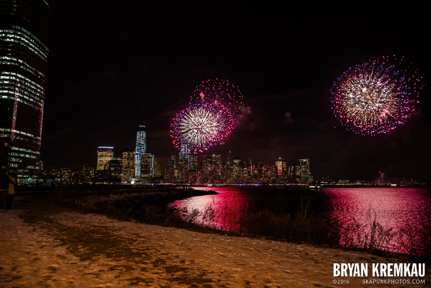 Fireworks at Super Bowl Kickoff Spectacular @ Liberty State Park, Jersey City, NJ - 1.27.14 (5)