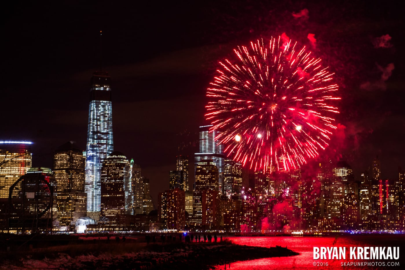 Fireworks at Super Bowl Kickoff Spectacular @ Liberty State Park, Jersey City, NJ - 1.27.14 (4)