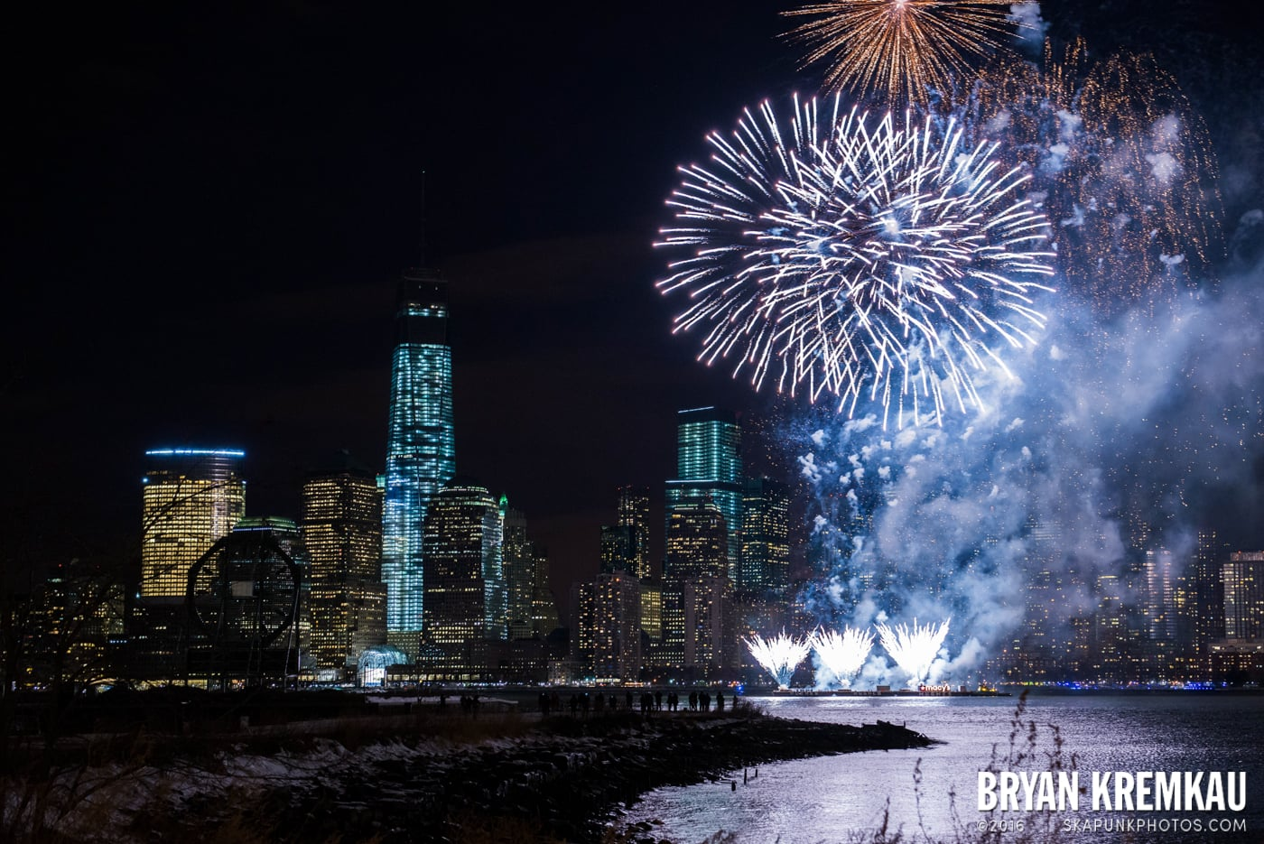 Fireworks at Super Bowl Kickoff Spectacular @ Liberty State Park, Jersey City, NJ - 1.27.14 (1)