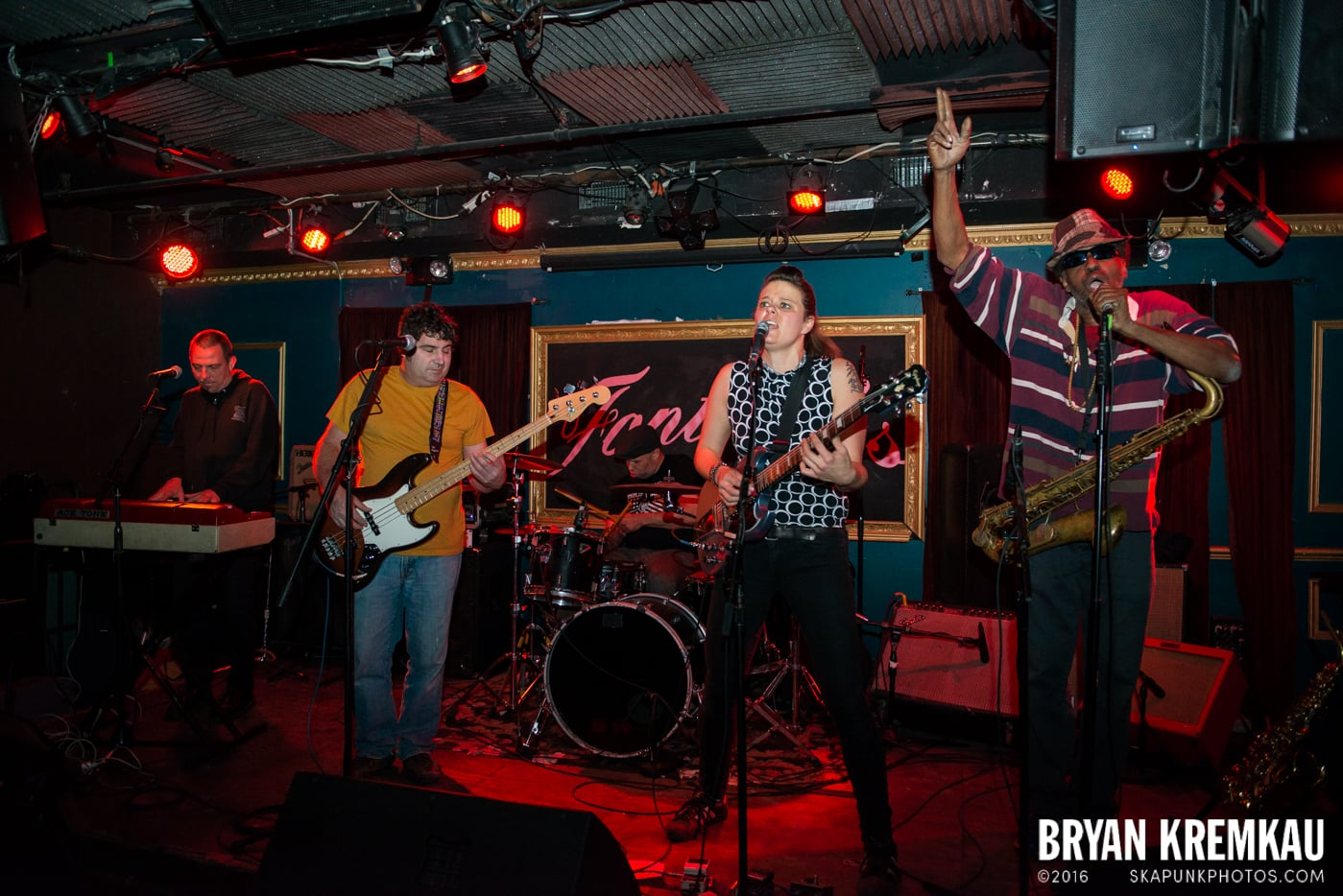 The Scotch Bonnets @ Fontana's, NYC - 4.25.15 - Photo by Bryan Kremkau (12)