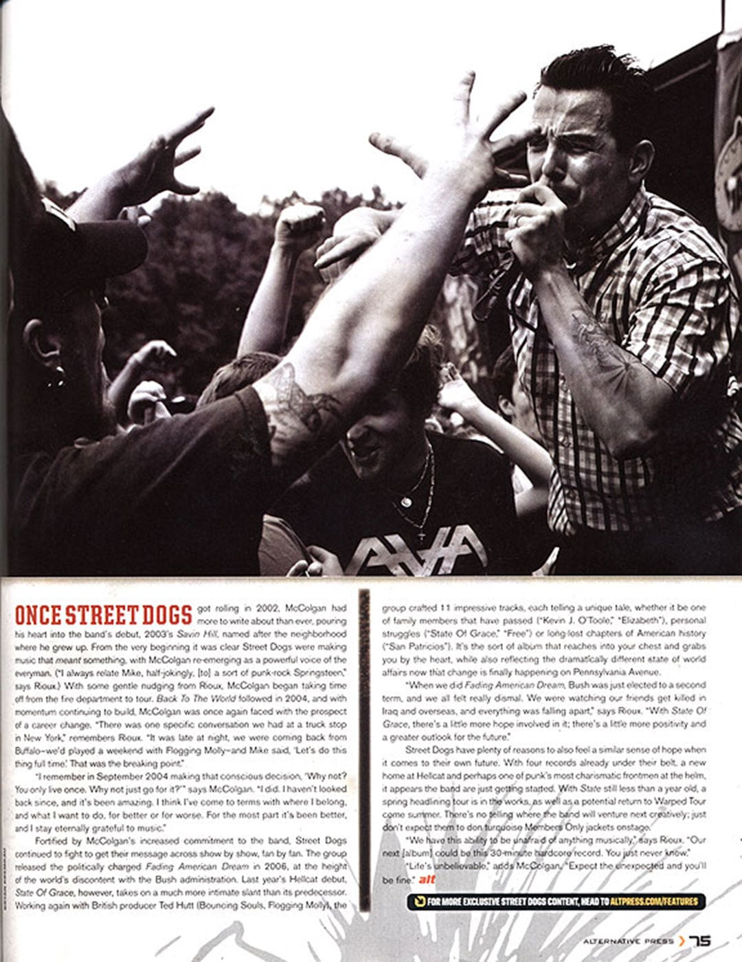 Tearsheets: Alternative Press Magazine - Street Dogs