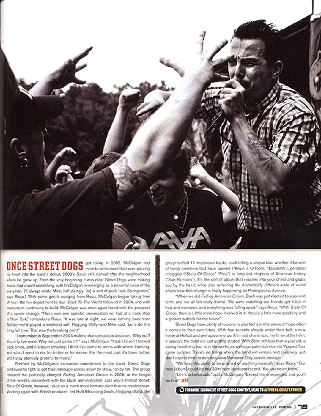 Tearsheets: Alternative Press Magazine - Street Dogs