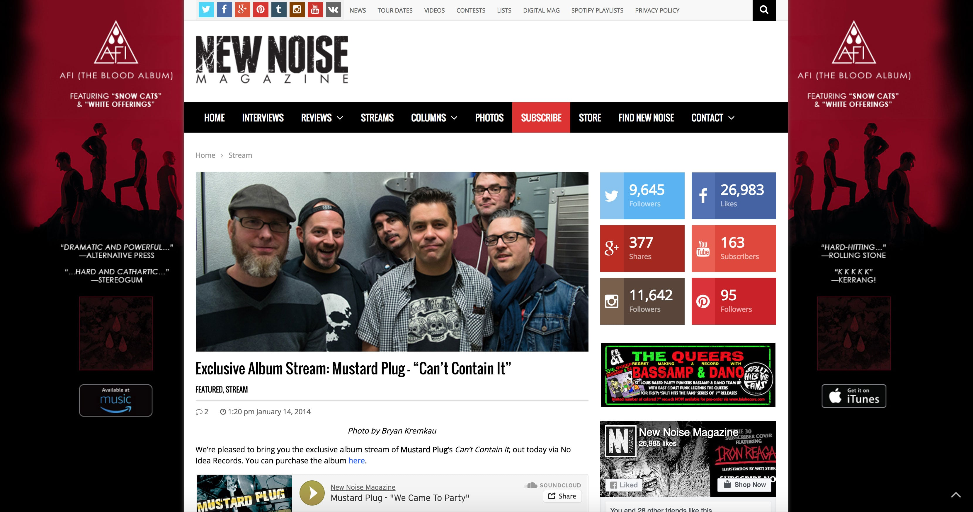 Tearsheets: Mustard Plug (New Noise Magazine)