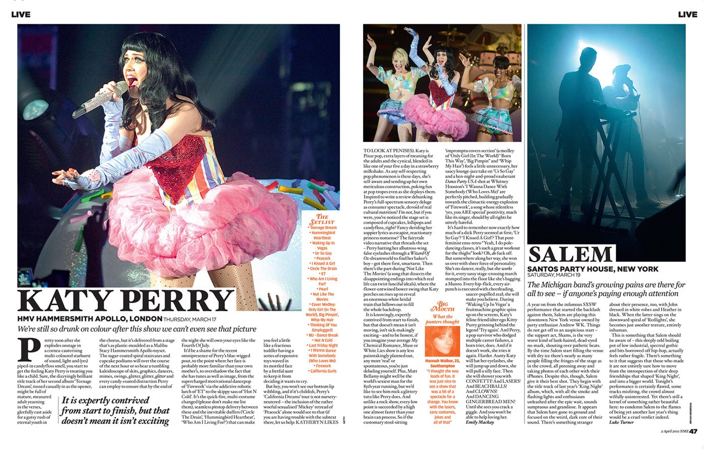 Tearsheets: NME - Salem