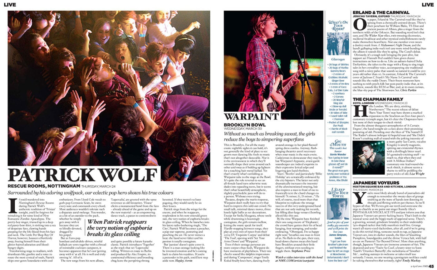 Tearsheets: NME - Warpaint