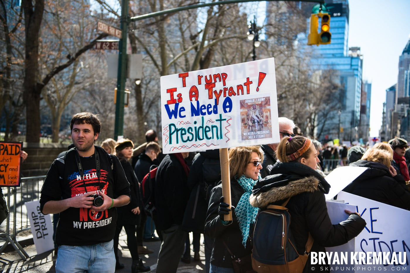 Not My President's Day Rally @ Columbus Circle, NYC - 2.20.17 (83)