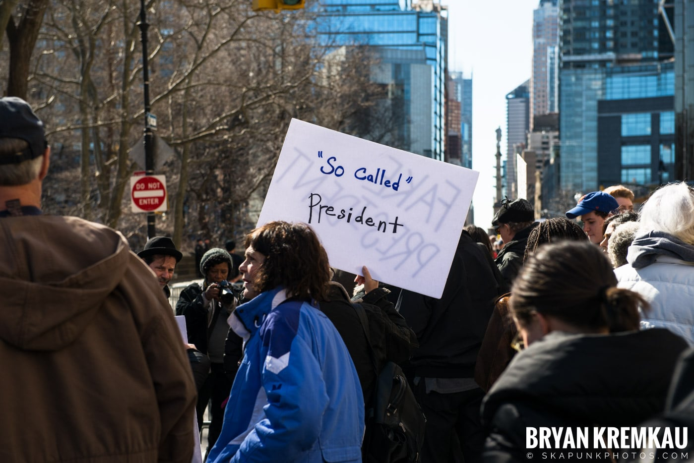 Not My President's Day Rally @ Columbus Circle, NYC - 2.20.17 (80)