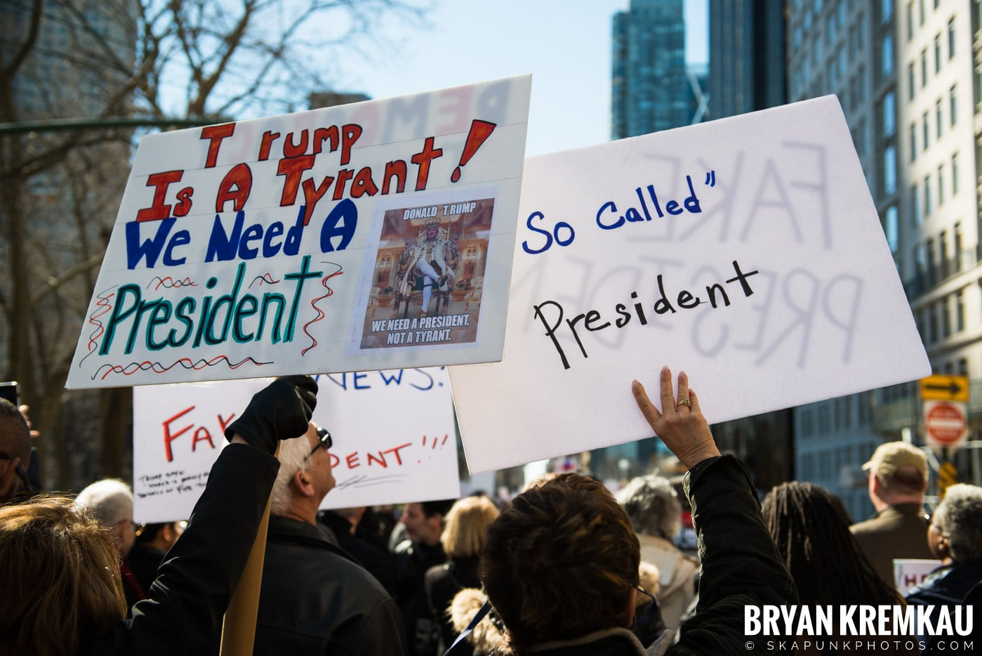 Not My President's Day Rally @ Columbus Circle, NYC - 2.20.17 (75)