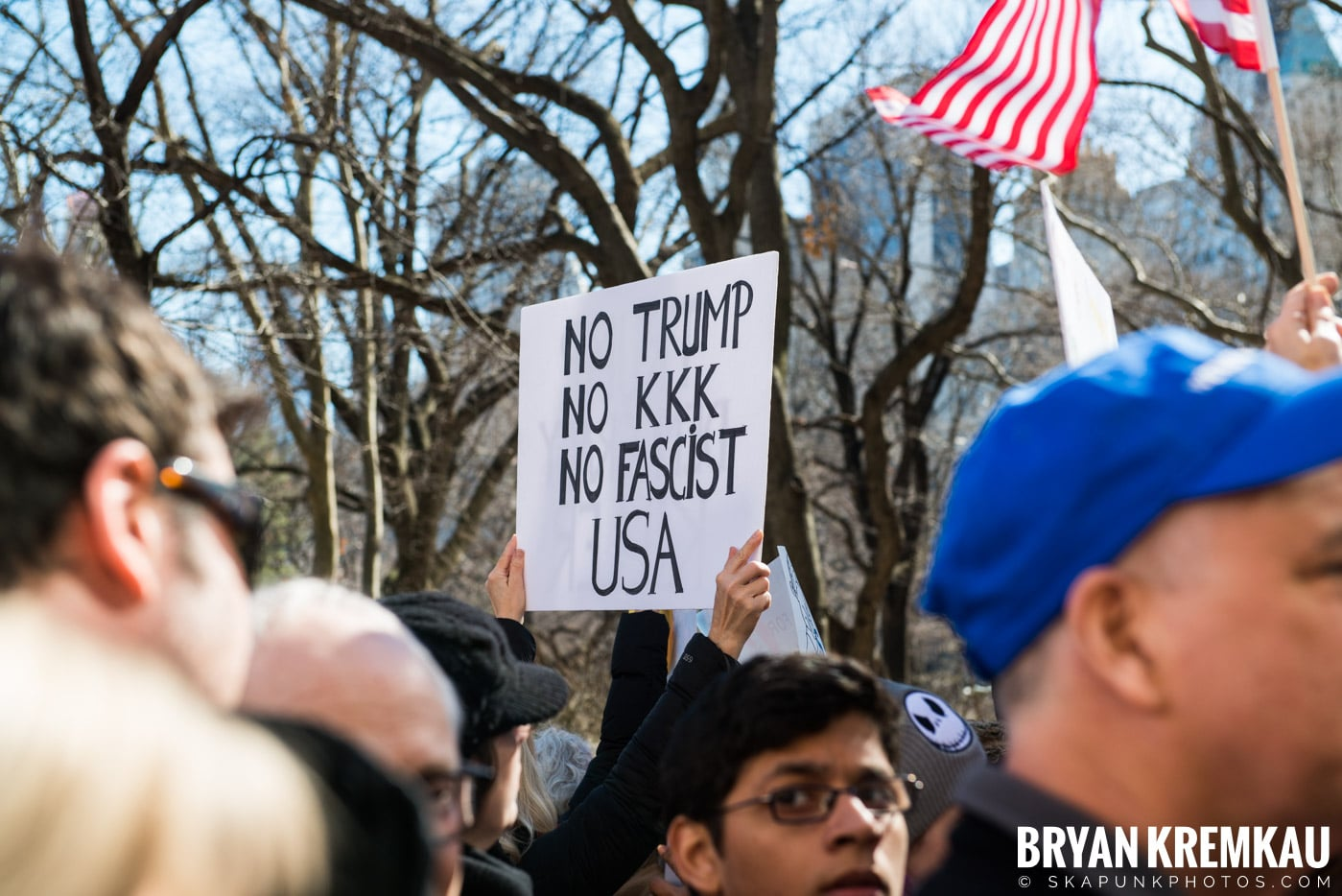 Not My President's Day Rally @ Columbus Circle, NYC - 2.20.17 (58)