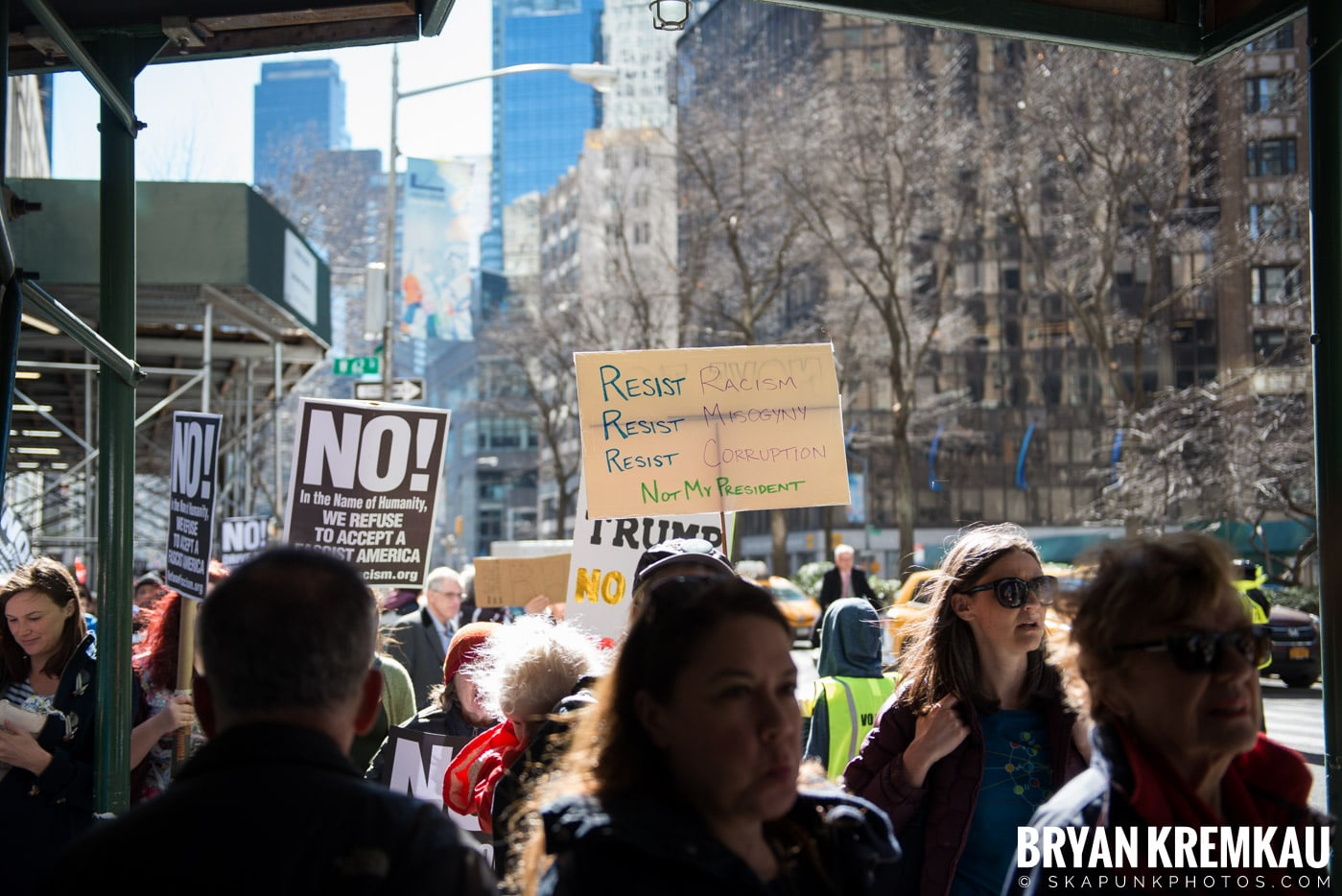 Not My President's Day Rally @ Columbus Circle, NYC - 2.20.17 (32)