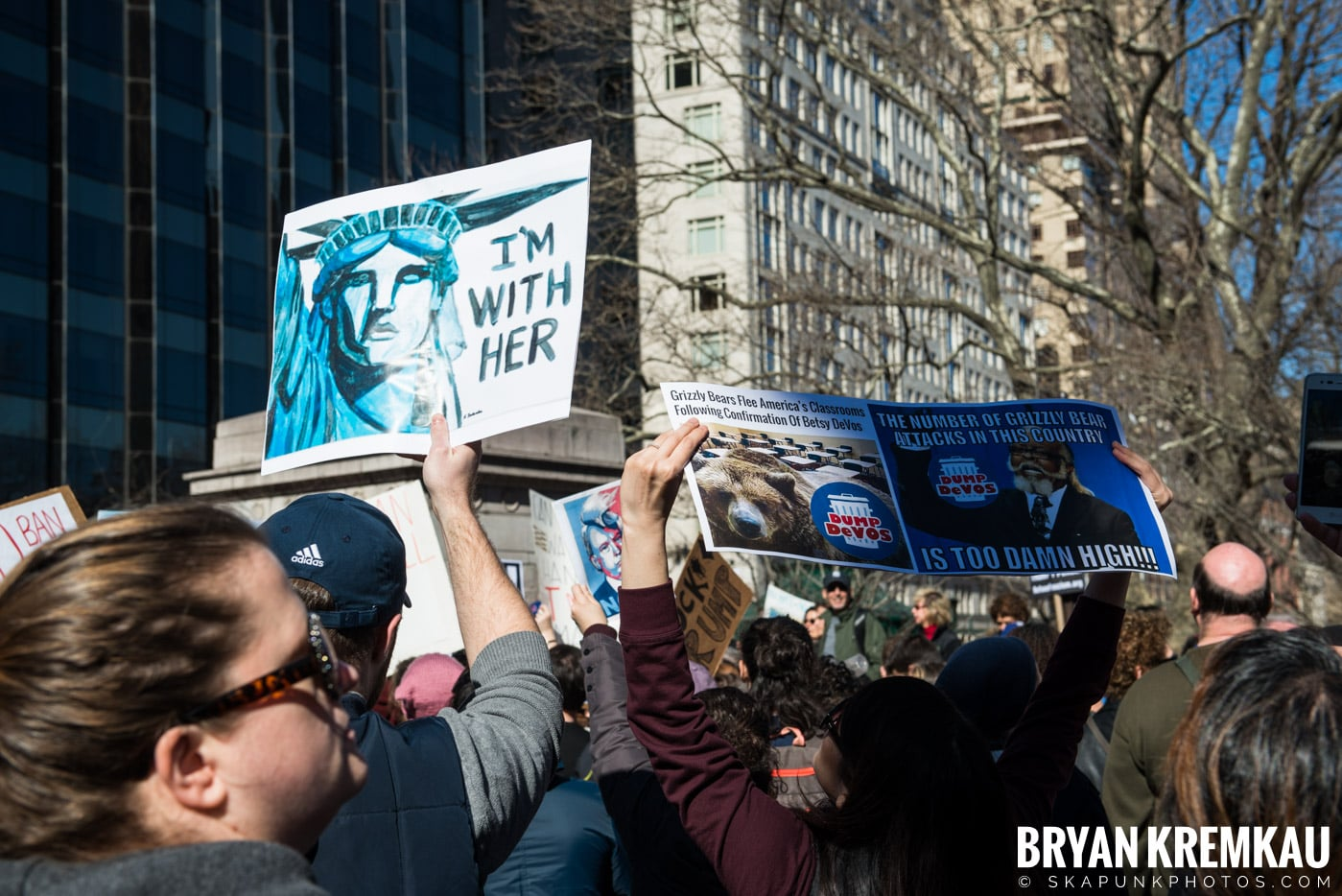 Not My President's Day Rally @ Columbus Circle, NYC - 2.20.17 (7)